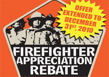 The rebate comes as a motivating factor for fire service professionals
