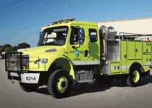 The wildland all-wheel drive pumpers are built to BLM 667 and 667M specifications