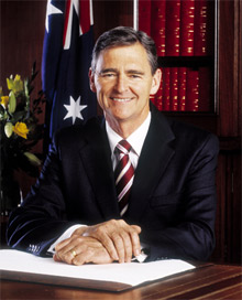 John Brumby, Premier of Victoria, Australia, issues a message following the recent bushfires in the region