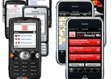 Developed by Country Fire Authority Technology Services, the mobile website displays key CFA pages