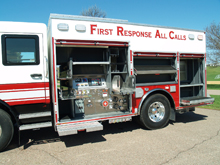 Crimson's First Response All Calls™ Vehicle was introduced at FDIC 2010