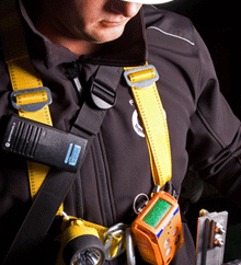 Worker with the Crowcon Gas-Pro CSE detector