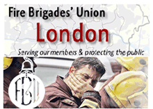 FBU is protesting against sackings and cuts