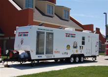 Sprinkler safety trailer for fire safety demonstration