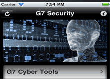 G7 Security App offers cyber security alerts in real time from the National Cyber Alert System.