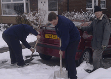 Fire crews from other areas of Greater Manchester also cheered up residents by clearing snow.