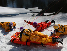 Rescue personnel must be trained to assess a scene and select the appropriate equipment and personal resources to effect a successful rescue or body recovery attempt