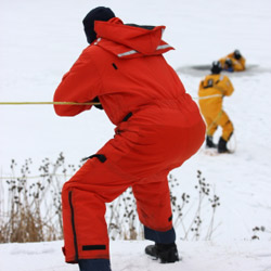 Fire departments must be well-prepared for the dangers of water and ice
