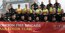 London Fire Brigade staff participated at Marathon 2010