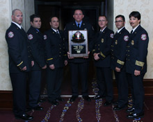 Officers of Coral Springs Fire Department receiving the MSA FireSlayer of the Year Award