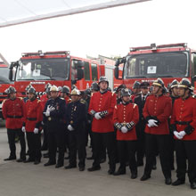 Chilean firefighters provide many important services in fire protection and civil defence