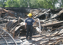 Remains of the Sofa Super Store in Charleston, S.C., after the fire in 2007