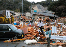 image of post-tsunami aftermath in Japan