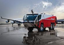 Oshkosh displayed its new striker aircraft resuce vehicle at Interschutz 2010