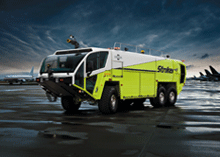 The Oshkosh Striker® Aircraft Rescue and Fire Fighting vehicle