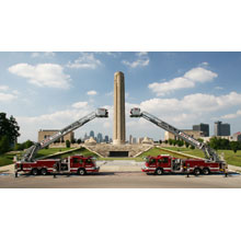 The 28 pumpers are built on Pierce Impel® custom chassis with a 201-inch wheelbase, and each features a 450 HP engine