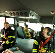 An interior view of the Dash CF pumper