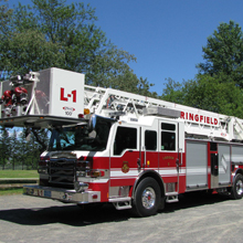 The PUC pumper is equipped with a 470 hp engine, 70-inch long cab, seating for four firefighters, stainless steel body etc.