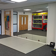 The suite provides NYFRS with a dual-purpose facility; offering a private and centralised location for the scientific and clinical elements of the Services annual Operational Fitness Assessments (OFA) and cardio vascular exercise machines designed to assess an individual's capability and fitness