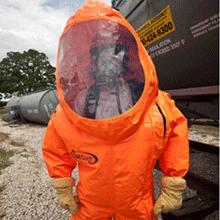 Saint-Gobain's ONESuit® Pro gas-tight chemical-protective hazmat suit
