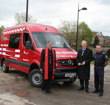 The new rescue truck will be used to save lives on the river and waterways in Shropshire