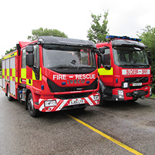 The vehicles have been custom built to meet the needs of a modern fire and rescue