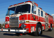 Bellevue Fire Department suppression and rescue division protects a population of 141,000 people.