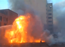 Baltimore fire spread up to 5 buildings on monday.