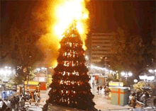 Christmas tree fires occur due to lack of safety measures against fires.
