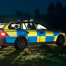 3m reflective sheeting on a police vehicle, for heightened traffic safety