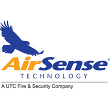 Airsense Technology logo, the company specialise in smoke detector systems