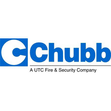 Chubb logo, the company are part of UTC Fire and Security
