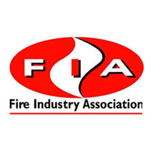 Fire Industry Association logo, a promoter of the professional status of the UK fire industry