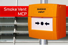 KAC's newest version of smoke vent control call point, the version will be installed in industrial buildings and public spaces