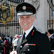 London Fire Commissioner was given an honours ceremony at Buckingham Palace for his devotion to firefighting