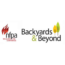 NFPA's Backyards & Beyond Wildland Fire Conference logo, the conference will include presentations on how to protect people and property from wildfire
