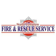 North Yorkshire Fire & Rescue Service logo, the service teamed up with '95 Alive' York and North Yorkshire Road Safety Parnership to simulate a collision