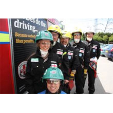 North Yorkshire Fire and Rescue Service road rescue team, the team can handle real life emergencies as well as global competitive challenges