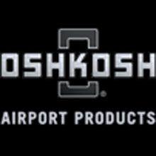Oshkosh Airport Products logo, the company have provided aircraft and firefighting vehicles on the Virgin Islands