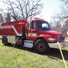 Pierce Tactical Water firefighting truck was purchased through a Fire Act Grant