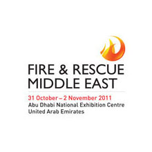 Fire & Rescue Middle East 2011 logo, the event will showcase the latest strategies in containing fire and emergency situations