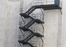 Proper secondary fire escape staircase should be placed in residential blocks.