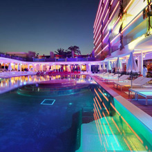 the Ushuaïa Ibiza Beach Hotel complex is also famous for hosting open-air parties, attracting up to 5,000 people a night who flock to see the biggest DJs in the world, as well as a host of celebrity and VIP guests