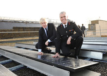 The use of solar panels in the LSB fire stations has led to the achievement of carbon emissions targets before the given deadlines