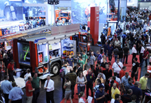 Exhibitors from 53 nations participated to display their products and services