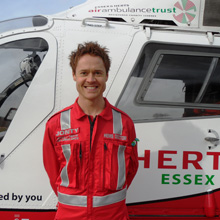 Air ambulance crews can extricate casualties from accidents where there is a high risk of exposure to fire