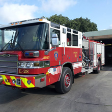 SAFD's new Quantum pumpers are equipped with a 500 hp EPA 2010 certified engine and TAK-4 independent front suspension