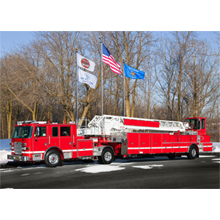 Each of the seven Pierce Arrow XT 100-foot heavy-duty tiller apparatus for LAFD also features a Cummins ISX engine