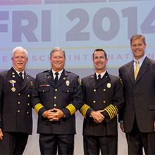 Fire Chief of the Year annual awards were presented during the opening session of the 2014 IAFC Fire-Rescue International Exhibits and Conference in Texas