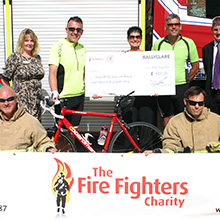 Ballycare assisted with the donation that will make a huge difference to members of the firefighting community